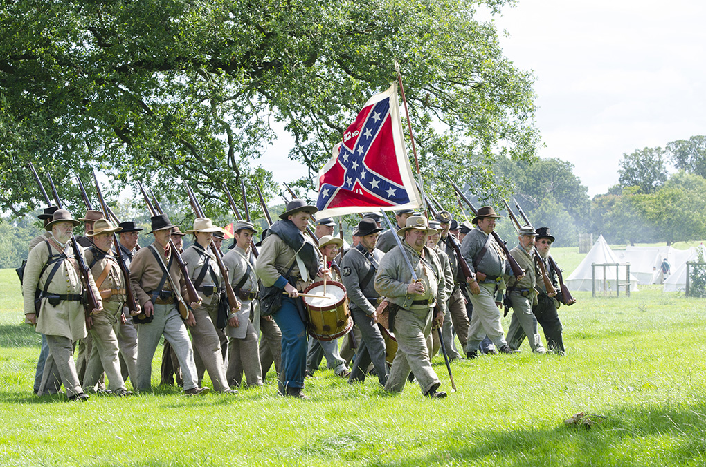 Confederate Infantry advance